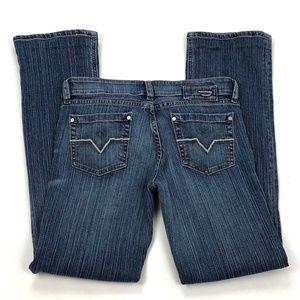 Diesel Low Rise Straight Leg Juniors Jeans Altered